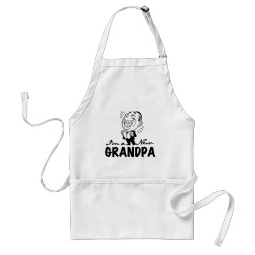 Smiling New Grandpa T-shirts and Gifts Apron