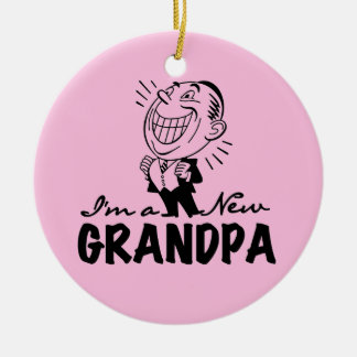 Smiling New Grandpa T-shirts and Gifts Christmas Ornament