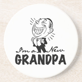 Smiling New Grandpa T-shirts and Gifts Coaster