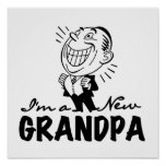 Smiling New Grandpa T-shirts and Gifts Posters