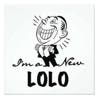 Smiling New Lolo T-shirts and Gifts 13 Cm X 13 Cm Square Invitation Card