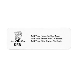Smiling New Opa T-shirts and Gifts Return Address Label