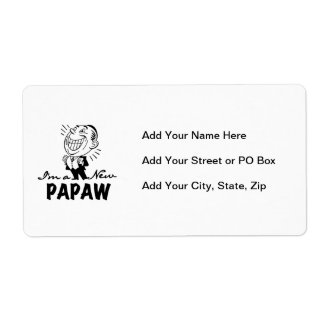 Smiling New Papaw Tshirts and Gifts Shipping Label