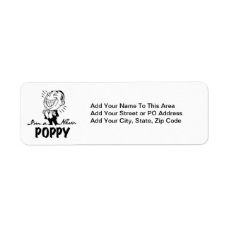 Smiling New Poppy T-shirts and Gifts Return Address Label