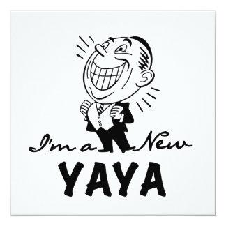 Smiling New Yaya Tshirts and Gifts Custom Invite