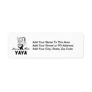 Smiling New Yaya Tshirts and Gifts Return Address Label