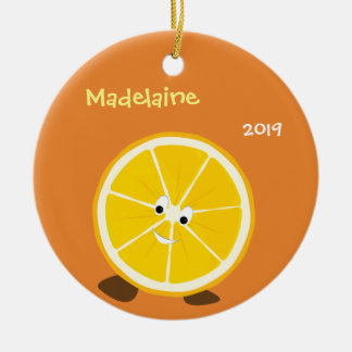 Smiling Orange Round | Christmas Ornament