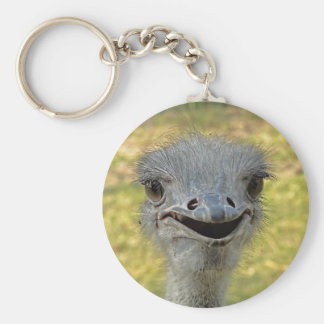 Smiling Ostrich Keychain