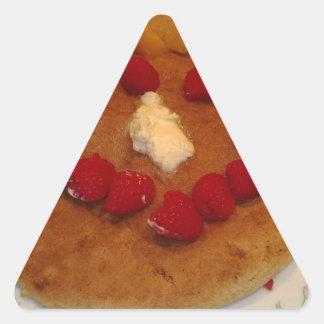 Smiling pancake sticker