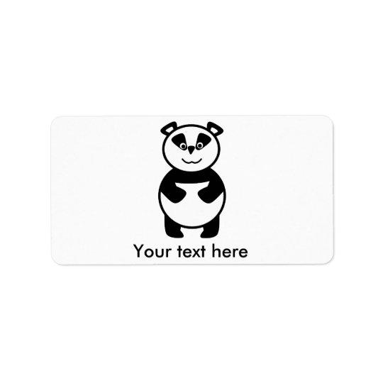 Smiling panda bear address label