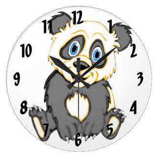 Smiling Panda Large Clock