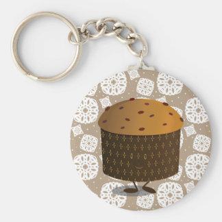 Smiling Panettone Basic Round Button Key Ring