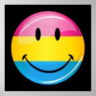 Smiling Pansexual Pride Flag Poster