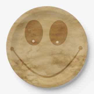 Smiling Paper Plate