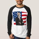 Smiling Patriotic Barack Obama Pop Art T Shirts