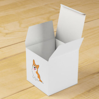 Smiling Pembroke Welsh Corgi Cartoon Favour Box