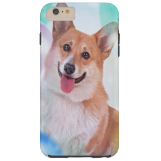 Smiling Pembroke Welsh Corgi dog Tough iPhone 6 Plus Case