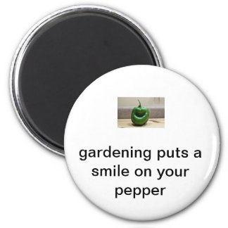 smiling pepper 6 cm round magnet