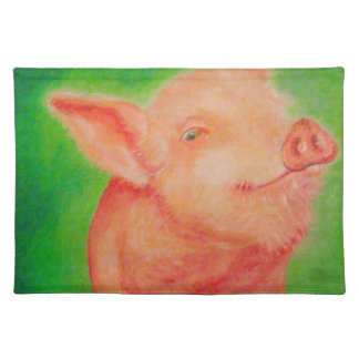 Smiling Pig Placemats