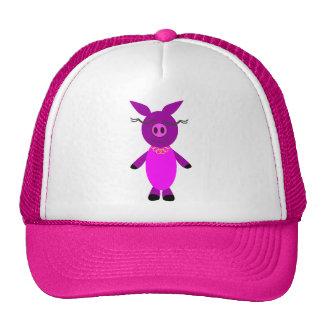 Smiling piggy trucker hats