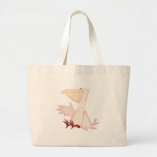 smiling pink pelican bag