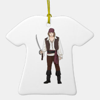 Smiling Pirate with Sword Ornaments