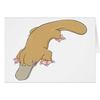 Smiling Platypus Greeting Card