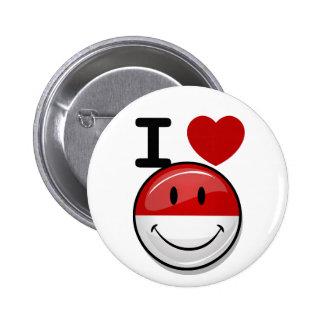 Smiling Polish Flag 6 Cm Round Badge