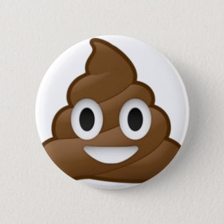 Smiling Poop Emoji 6 Cm Round Badge