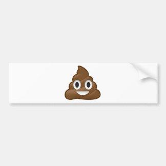 Smiling Poop Emoji Bumper Sticker