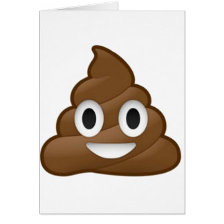 Smiling Poop Emoji Card