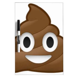 Smiling Poop Emoji Dry Erase Board