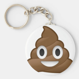 Smiling Poop Emoji Key Ring