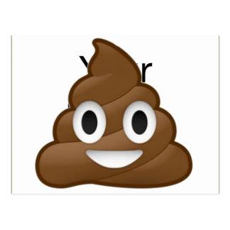 Smiling Poop Emoji Postcard