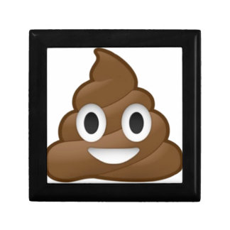 Smiling Poop Emoji Small Square Gift Box