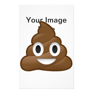 Smiling Poop Emoji Stationery Paper