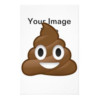 Smiling Poop Emoji Stationery Paper