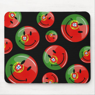 Smiling Portuguese Flag Mouse Mat