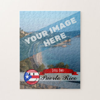 Smiling Puerto Rican Flag Jigsaw Puzzle