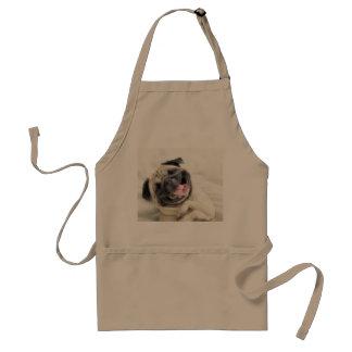 Smiling pug.Funny pug Standard Apron