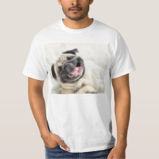 Smiling pug.Funny pug T-Shirt