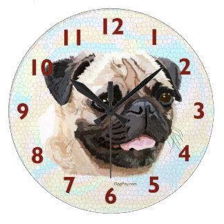Smiling Pug Wall Clock