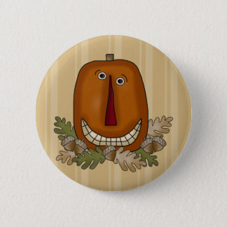 Smiling Pumpkin 6 Cm Round Badge