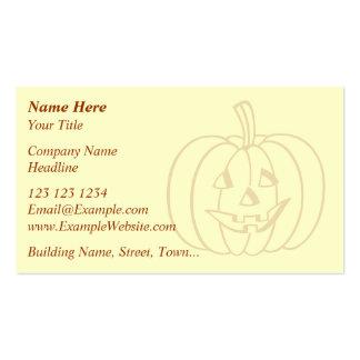 Smiling Pumpkin. Business Card