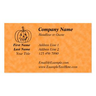 Smiling Pumpkin. Business Card Templates