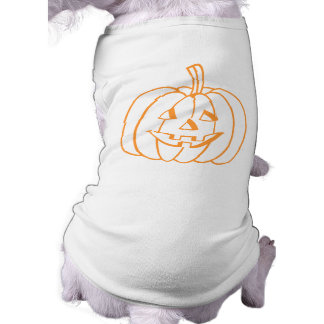 Smiling Pumpkin Pet Shirt