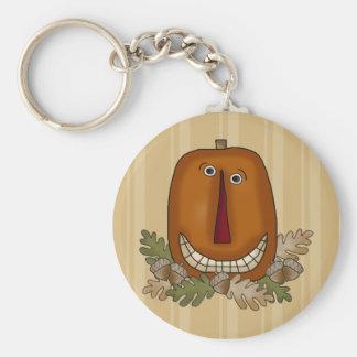 Smiling Pumpkin Keychain