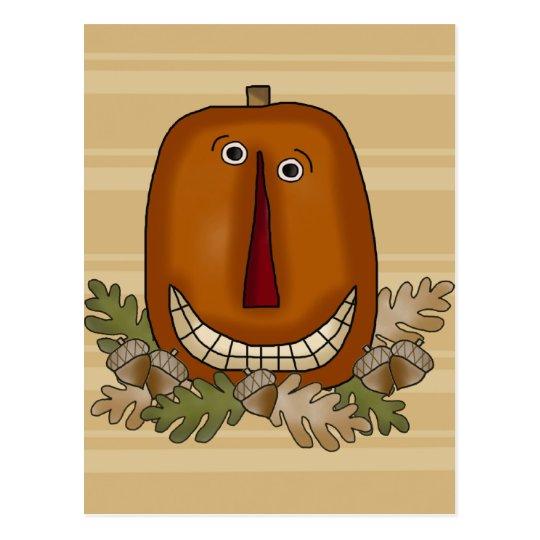 Smiling Pumpkin Postcard