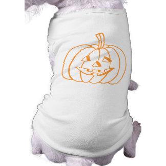 Smiling Pumpkin. Sleeveless Dog Shirt