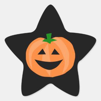 Smiling Pumpkin Star Sticker